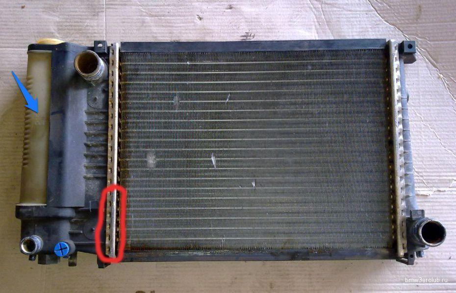 Теч бачка радіатора м43в18